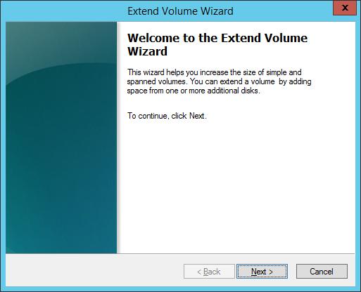 01 Extend Volume Wizard
