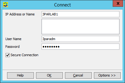 3PAR Management Console Logon