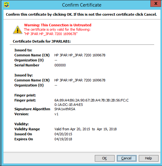 SSL/TLS Certificate Warning