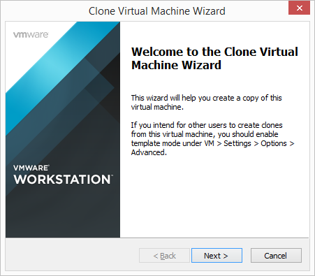 VMware Workstation - Clone Virtual Machine Wizard