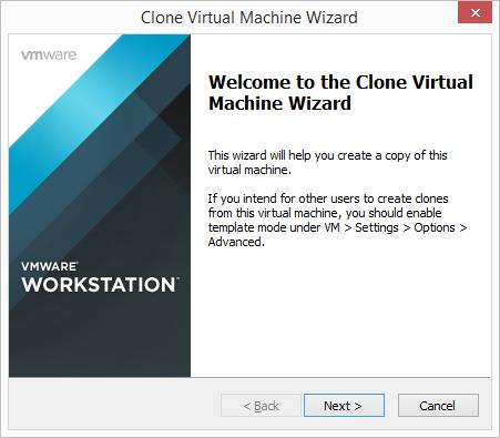VMware Workstation - Clone Virtual Machine Wizard