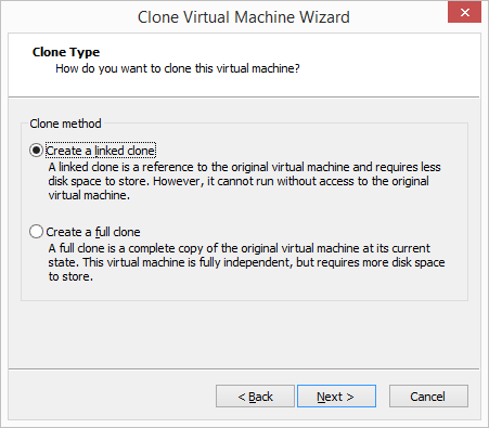VMware Workstation - Create a Linked Clone