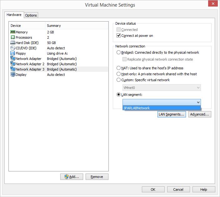 HP 3PAR Simulator Deployment on VMware Workstation