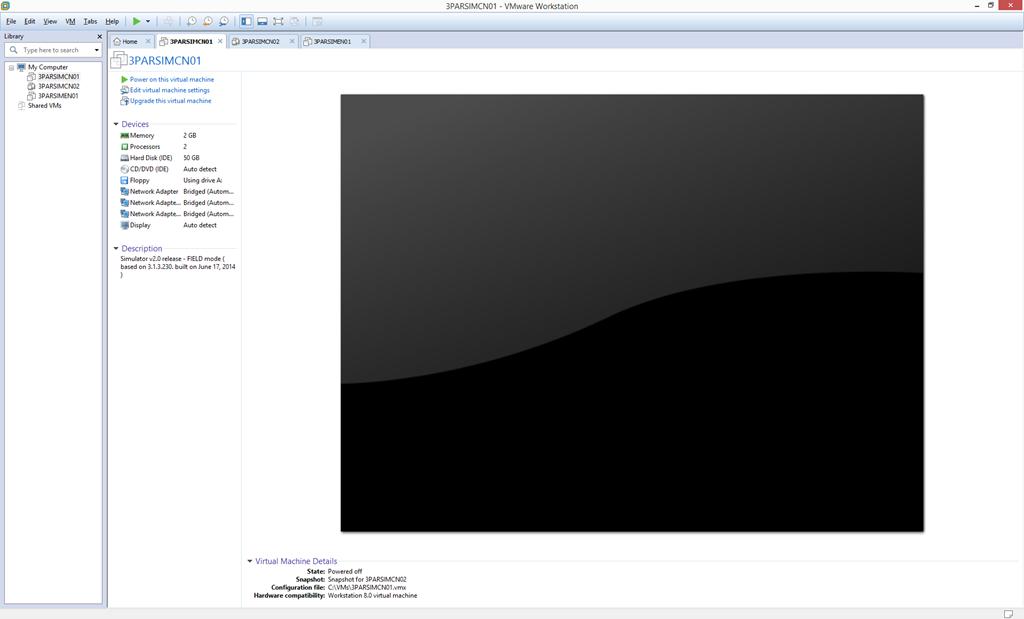 VMware Workstation - Select Cluster Node