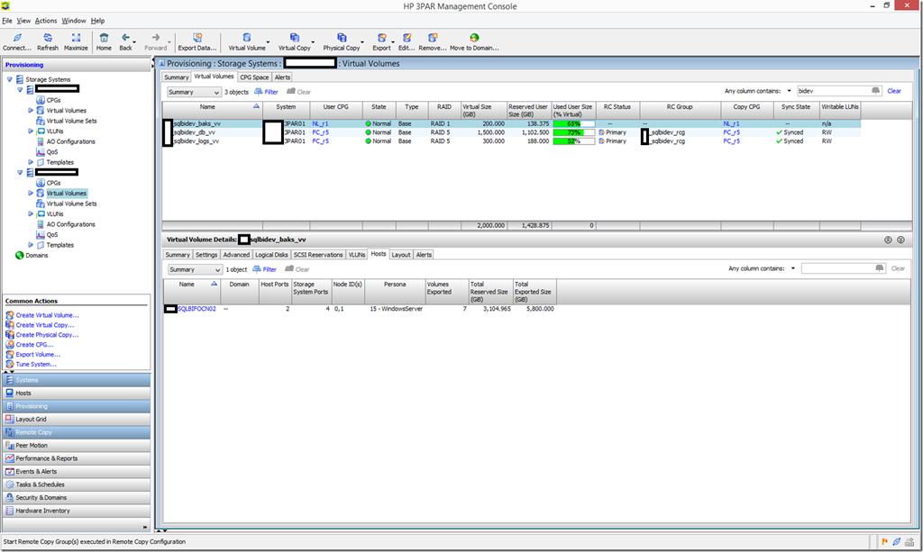3PAR Management Console