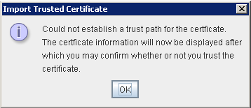 Portecle Import Trusted Certificate Warning