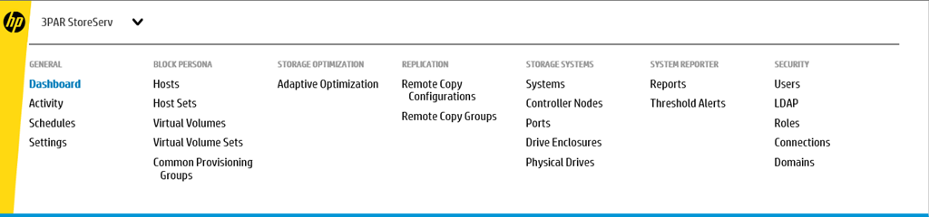 3PAR Management Console System Settings