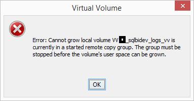 3PAR Management Console Alert