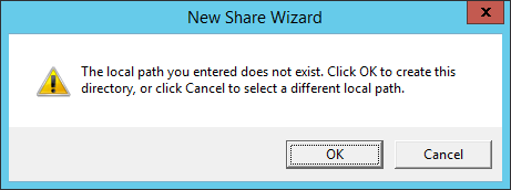 New Share Wizard