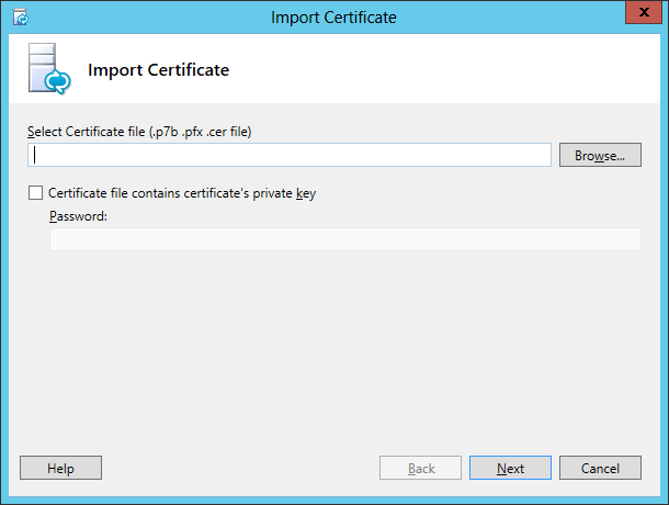 Lync Import Certificate Wizard Step 1 Import Certificate