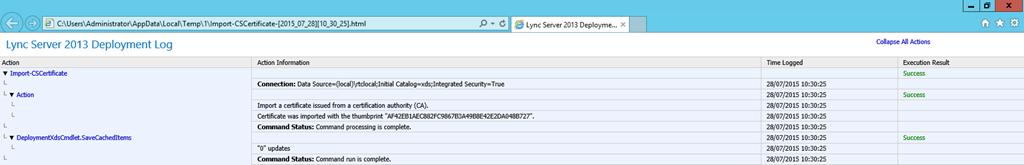 Lync Import Certificate Wizard Log File
