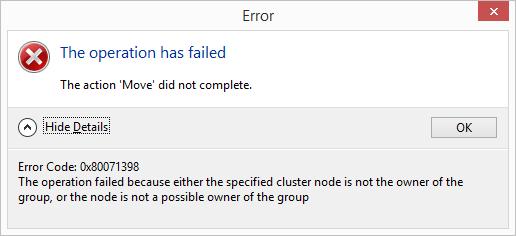 Error Code: 0x80071398