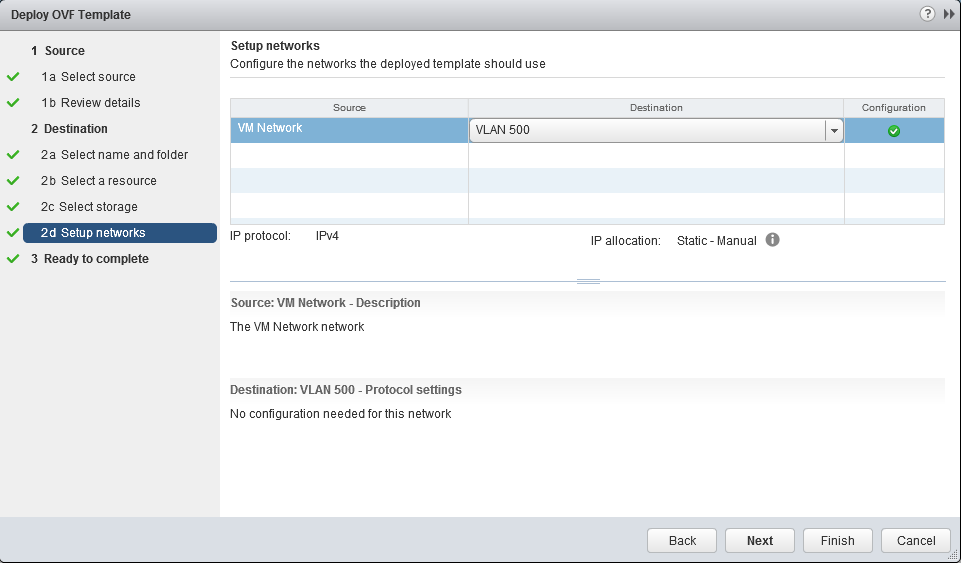 Select VM Network Settings