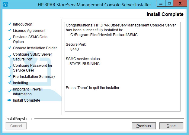 HP 3PAR StoreServe Management Console (SSMC) Version 2 2 Upgrade