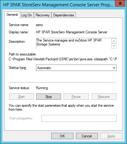 SSMC Windows Service Status