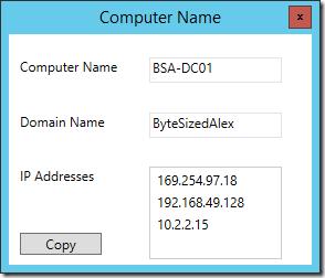 Computer Name Screenshot