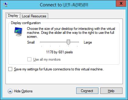 Virtual Machine Console