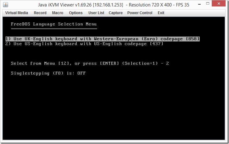 IPMI Screen
