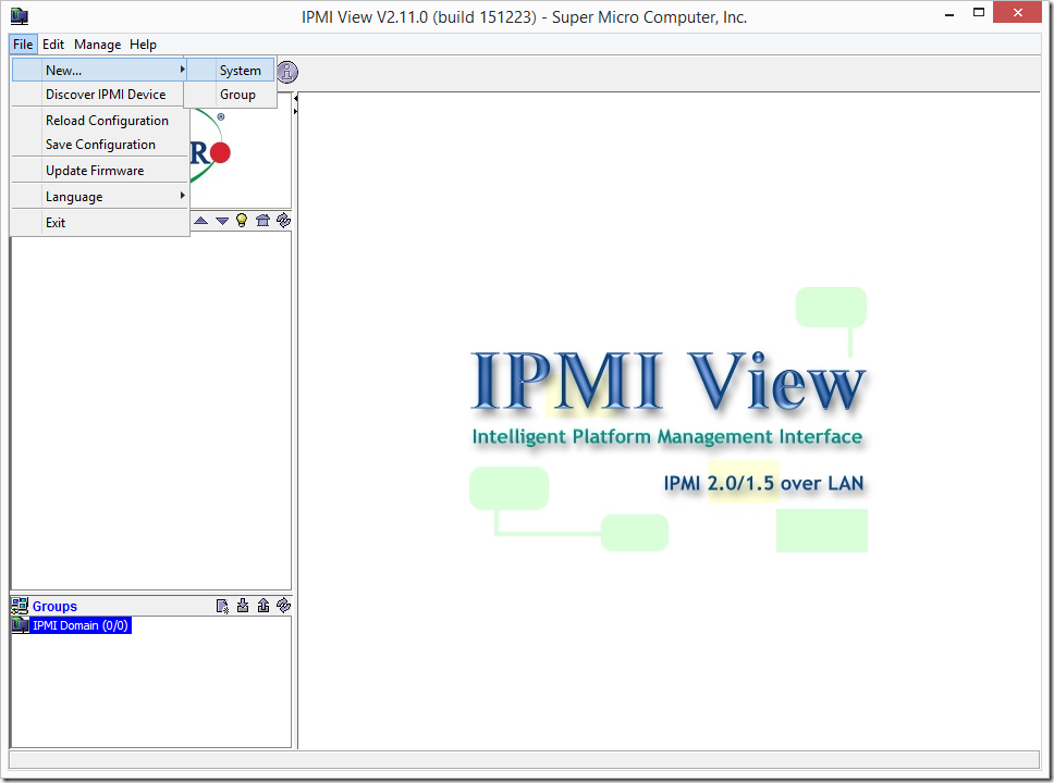 Supermicro IPMIView Add New System