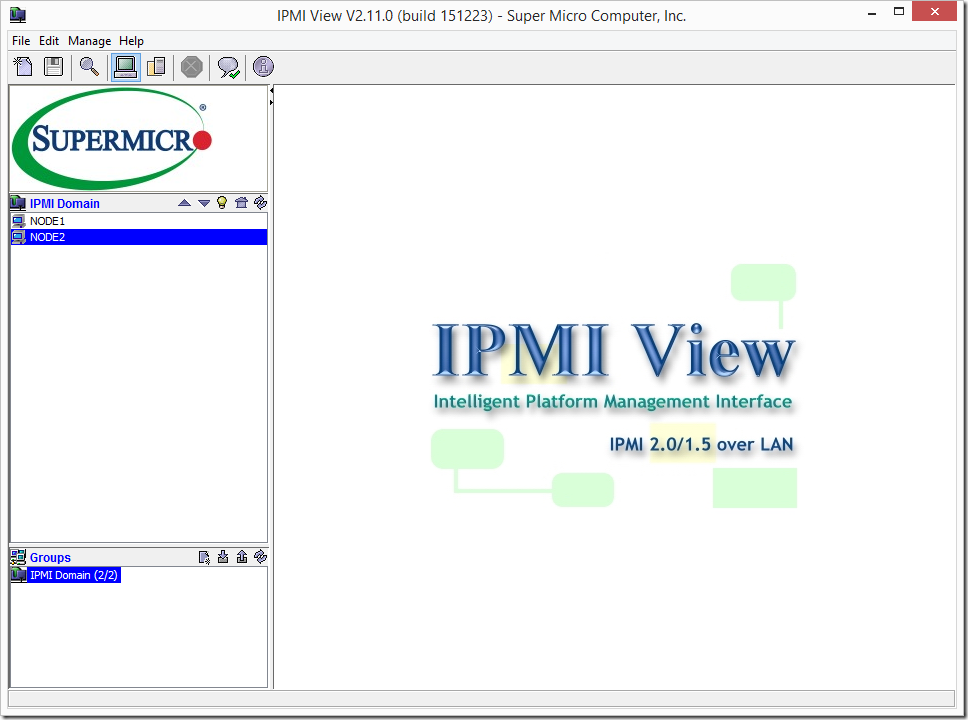 Supermicro IPMIView Systems Added