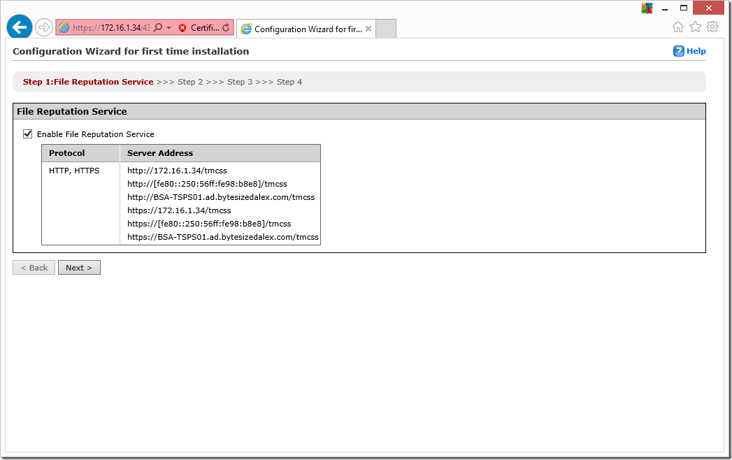 Web Interface Configuration Wizard
