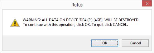 Data Erasure Warning