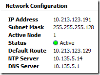 3PAR Network Settings