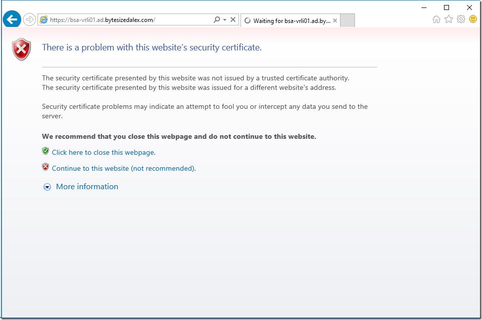 Webpage Certificate Alert