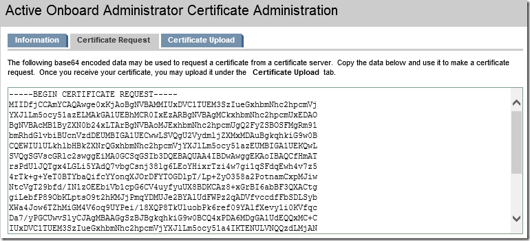 Certificate Signing Request base64 encoded