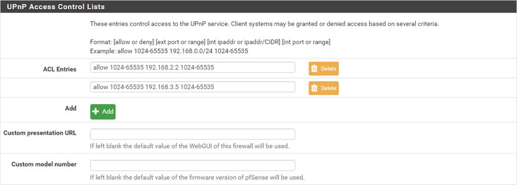 pfSense Universal Plug and Play UPnP NAT-PMP Configuration