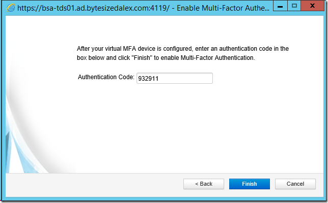 Enable Multi-Factor Authentication Wizard
