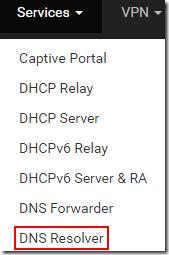 Services DNS Resolver