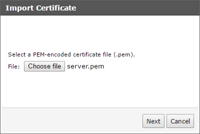 Trend Micro Smart Protection Server - Import PEM File