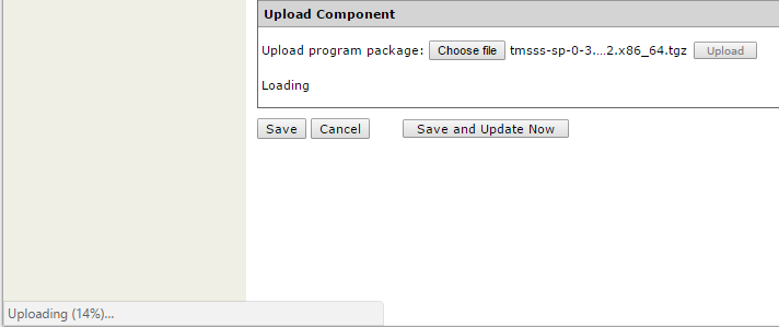 Trend Micro Smart Protection Server - Uploading Upgrade Package