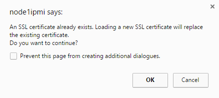 Certificate Replacement Warning