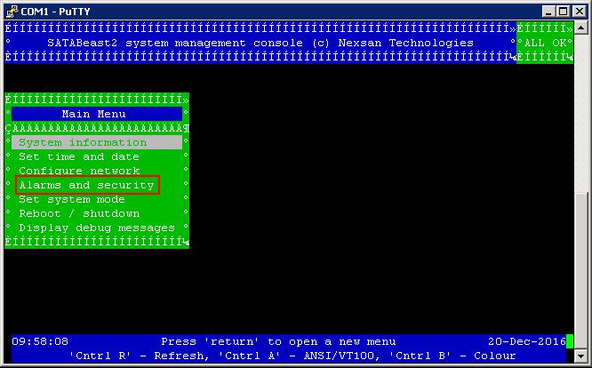 Nexsan SATABeast Password Reset via Serial Interface