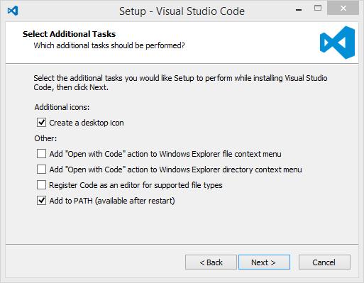 Installer Setup Visual Studio Code