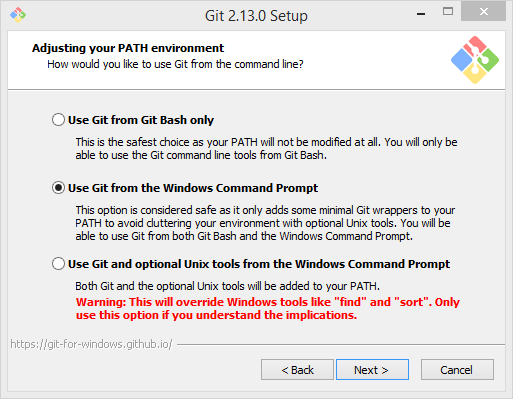 Git Setup - Adjusting Your Path Environment