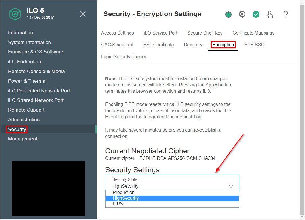 Hpe Ilo 5 Tls Ssl Settings Bytesizedalex