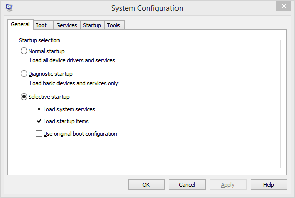 System Configuration General