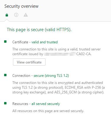vCenter OVF Deployment Certificate OK