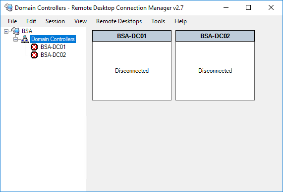 Remote Desktop Connection Manager Group Populated