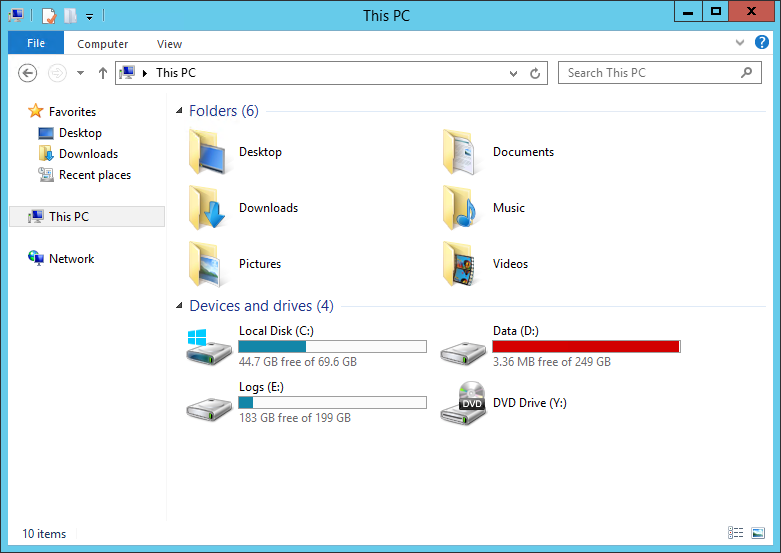 Identify SQL Table Disk Space Usage - Initial Disk Space Usage - All Consumed